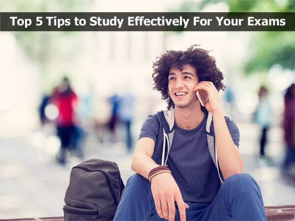 Top 5 Tips to Study Effectively For Your Exams