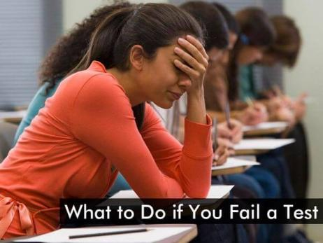 What to Do if You Fail a Test